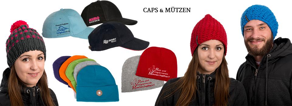 Caps & Mützen bedrucken & besticken