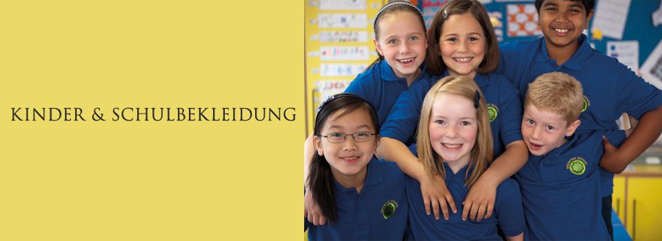 Schulbekleidung, Schuluniform & Schulmode für Kinder bedrucken & besticken