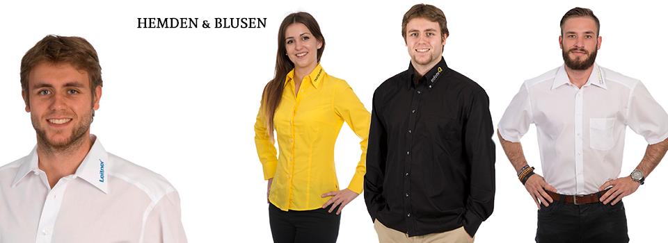 Hemden & Blusen bedrucken & besticken