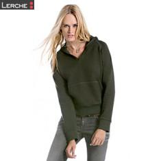 Ladies' Hooded V-Neck B&C