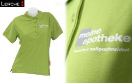 Bedrucktes Poloshirt mit hochelastischem Transferdruck für Ihre Werbung
