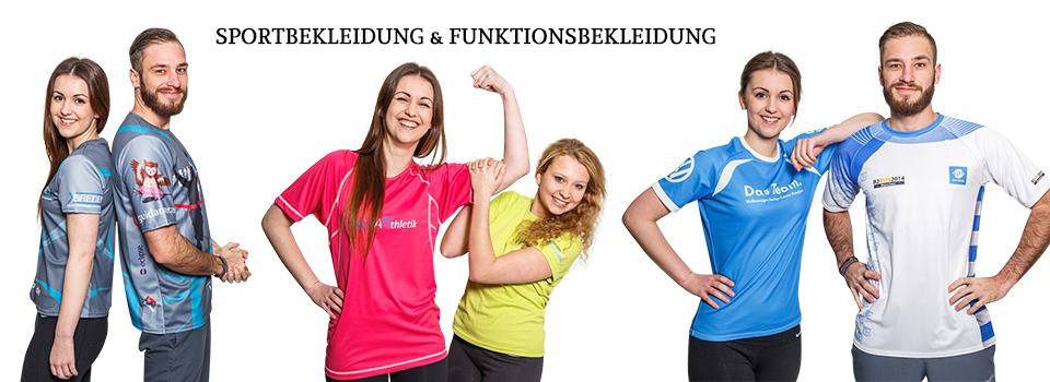 Sportbekleidung & Funktionsbekleidung bedrucken & besticken