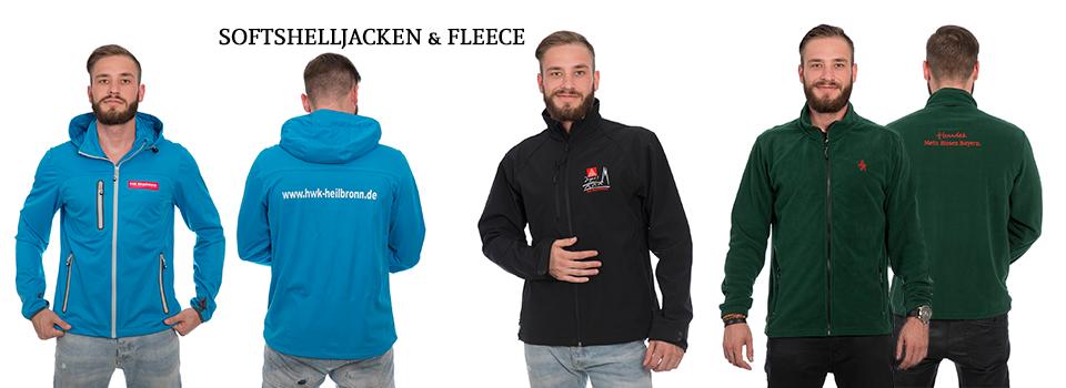 Fleece- & Softshell Jacken bedrucken und besticken