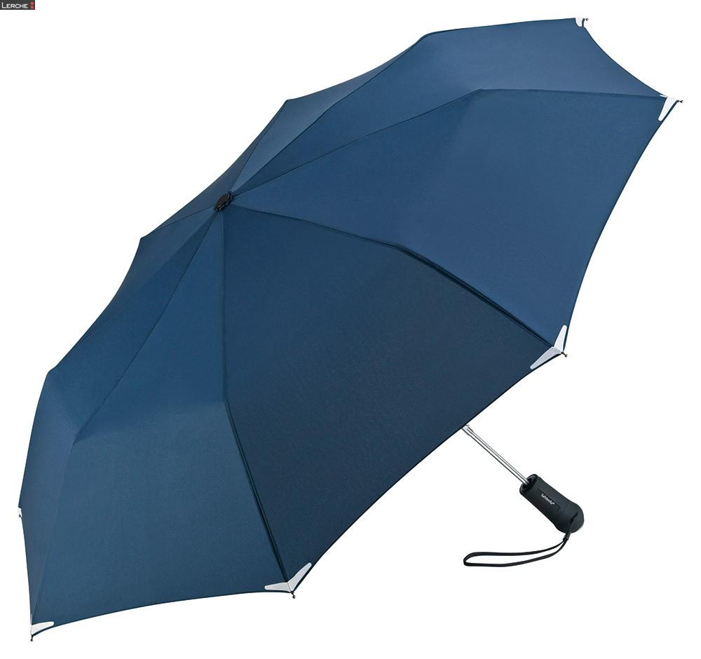 Safebrella LED Automatik Mini Taschenschirm FARE