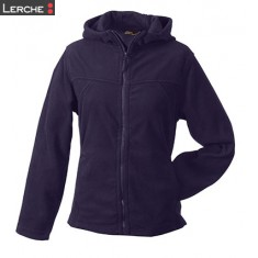 Girly Microfleece Jacket Hooded James & Nicholson
