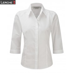 Popelin Bluse mit 3/4 Arm Russell
