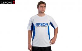 Bedrucktes und atmungsaktives Herren Laufshirt für EPSON Running Team